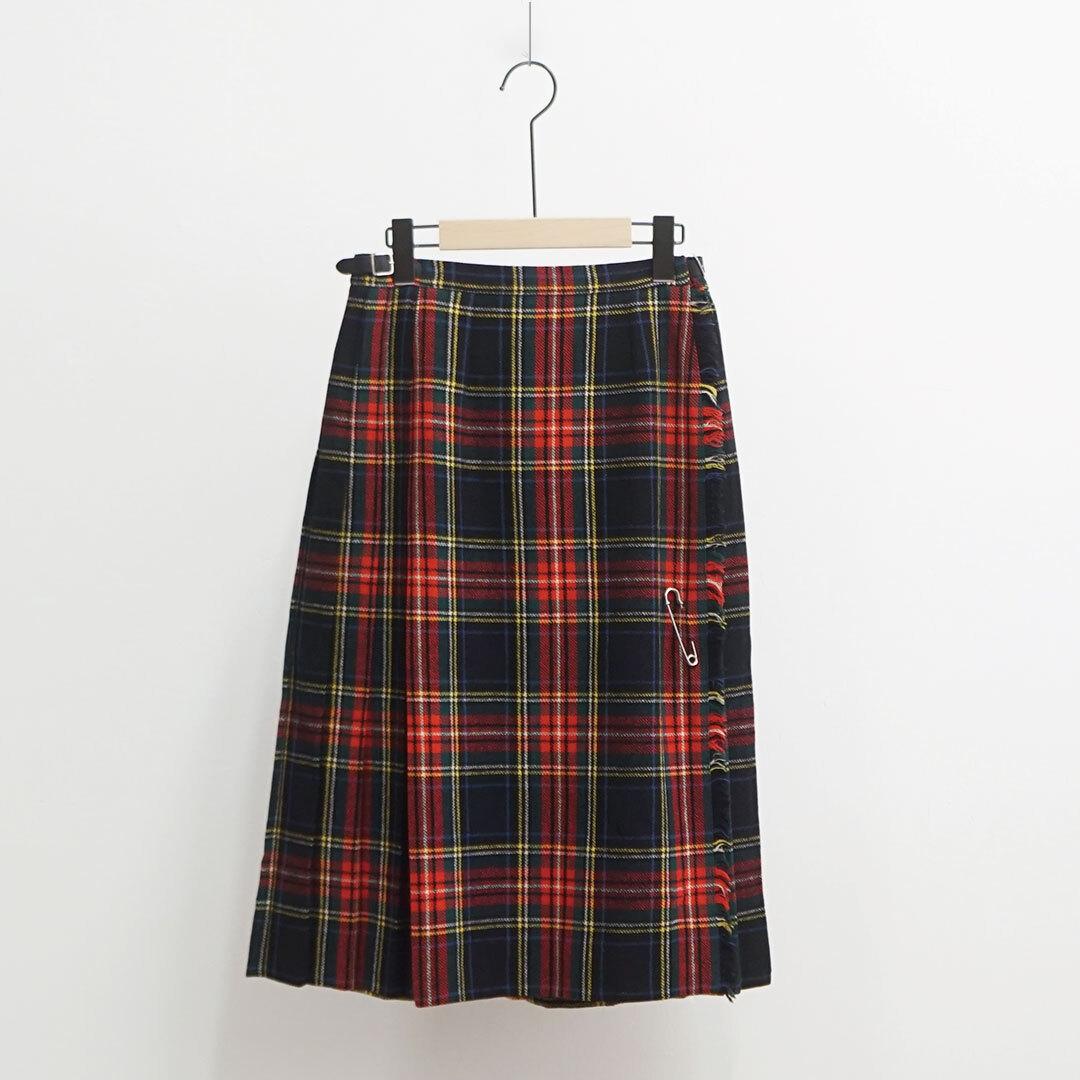 USED 古着 スカート (RED/BLACKチェック) (品番used-031)