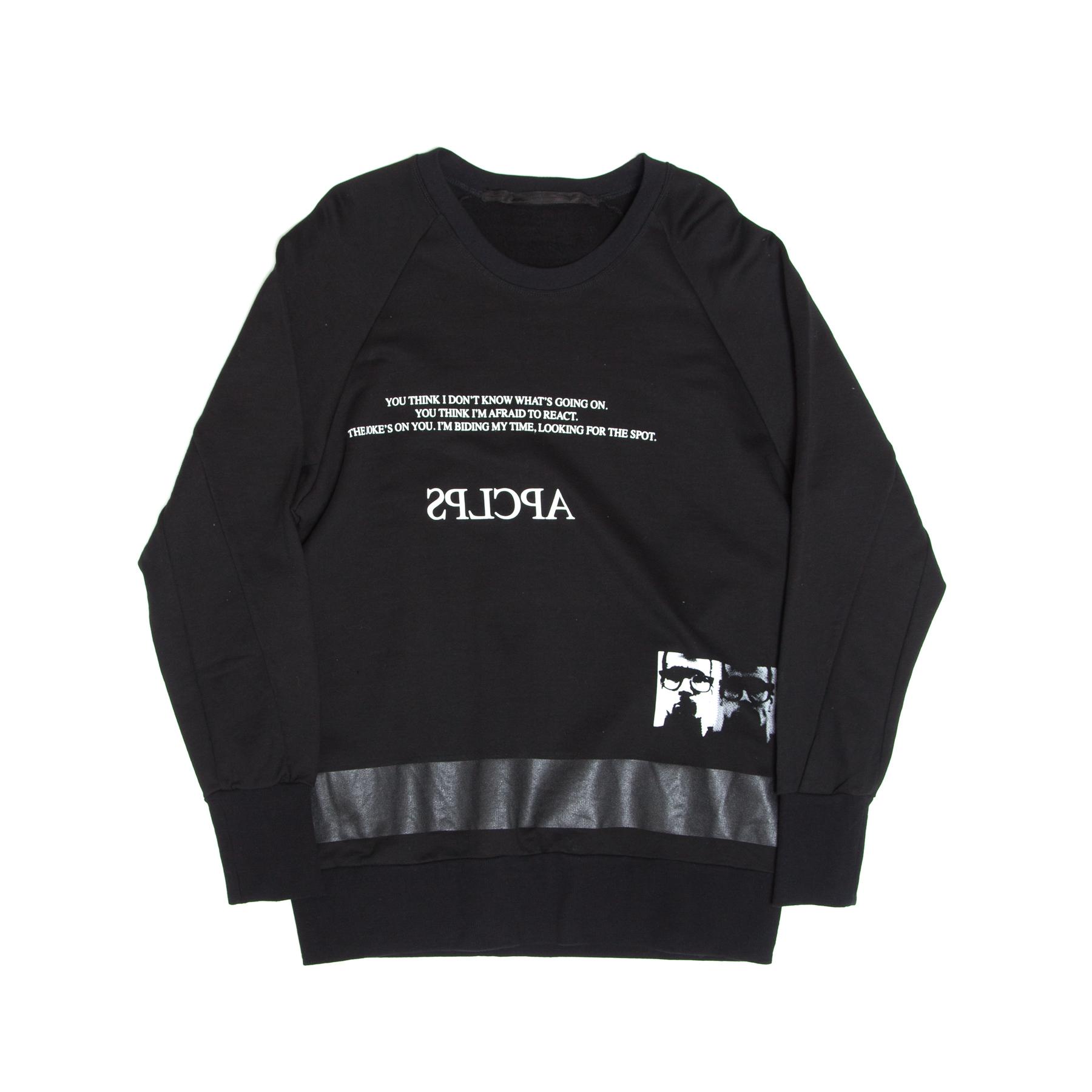 617CPM7-BLACK / APCLPS スウェットシャツ