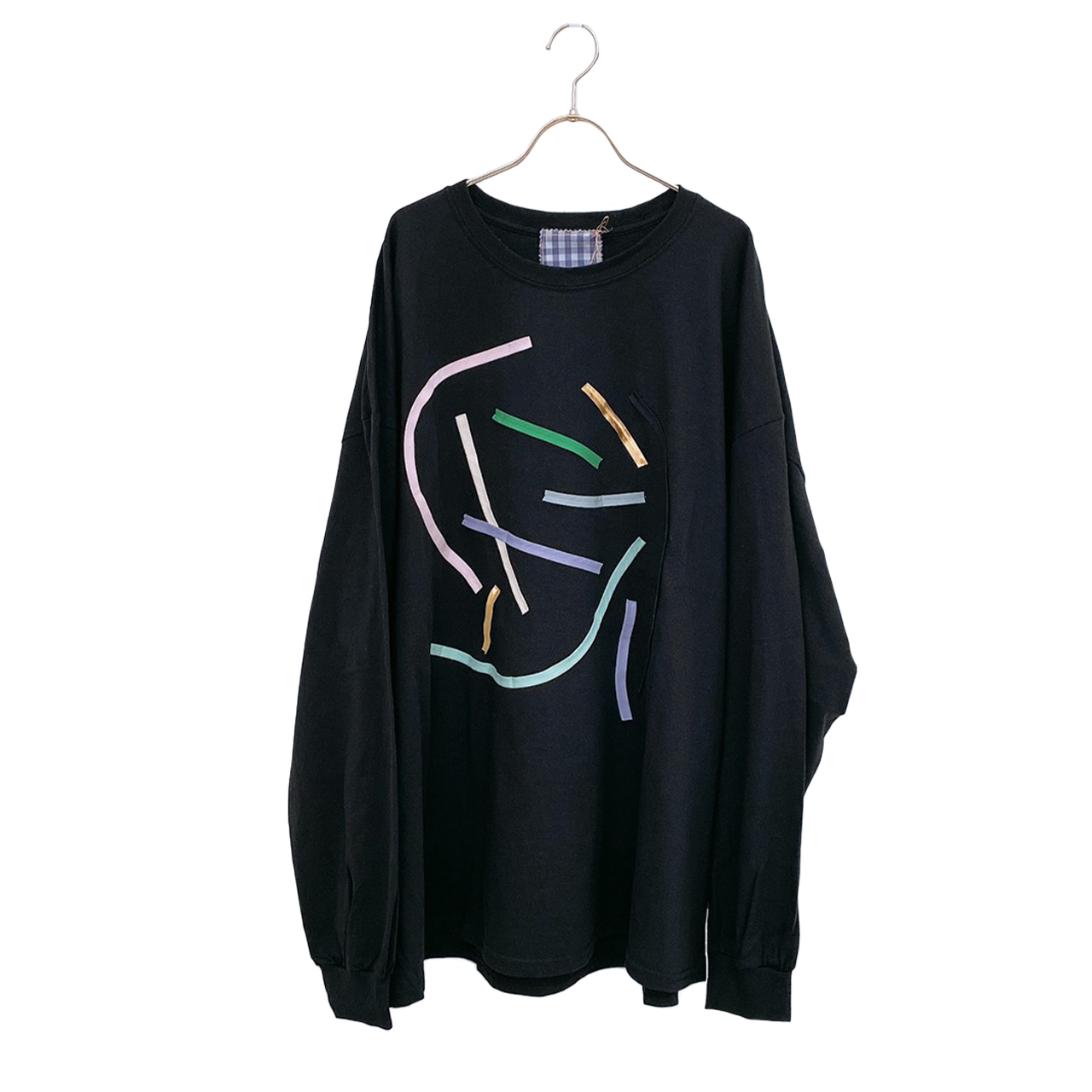 arere / BIG LONG T-SHIRT - BLACK