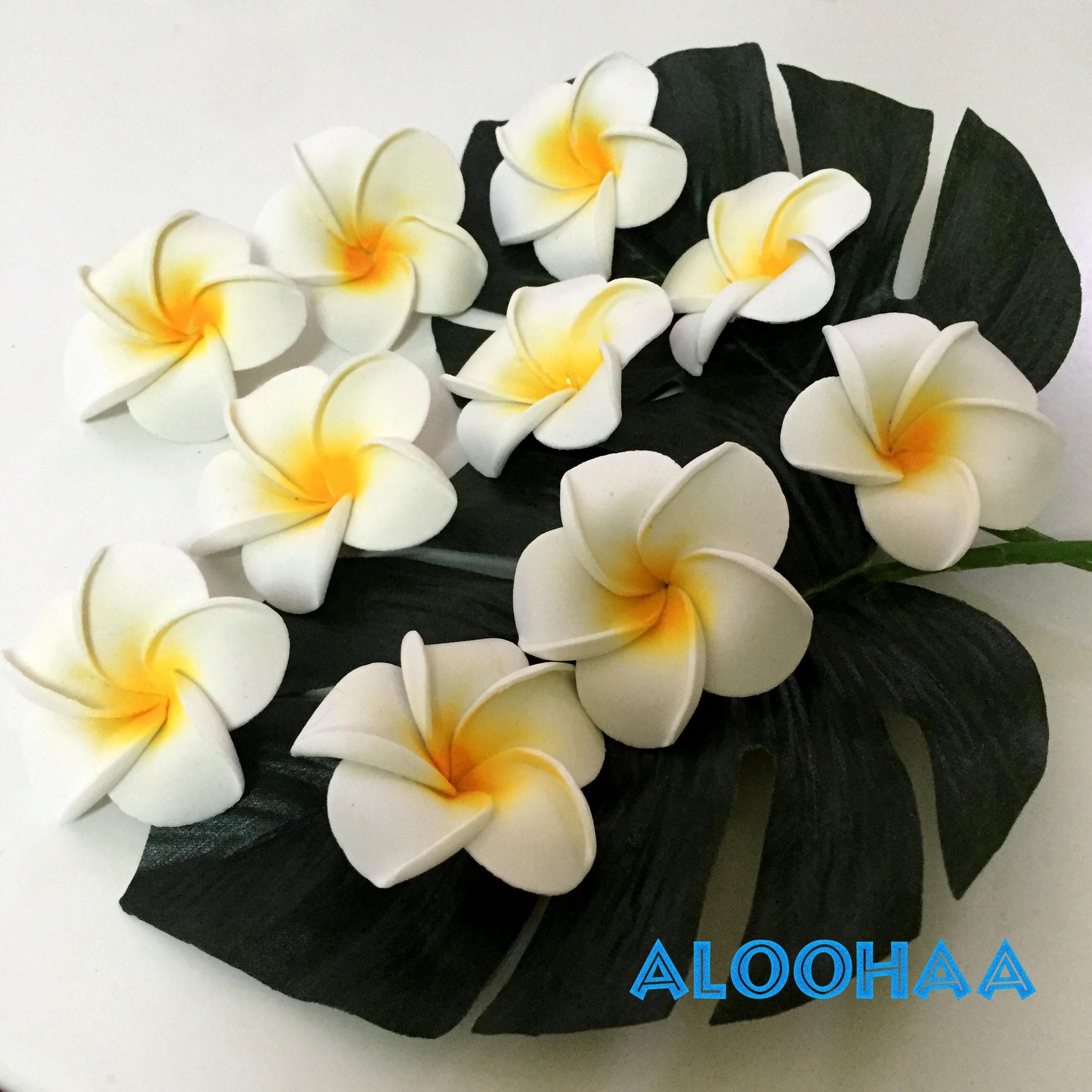 プルメリア 10pc パック SSsize 4-5cm 造花 ウレタン フラダンス タヒチアン 衣装 アクセサリー 材料