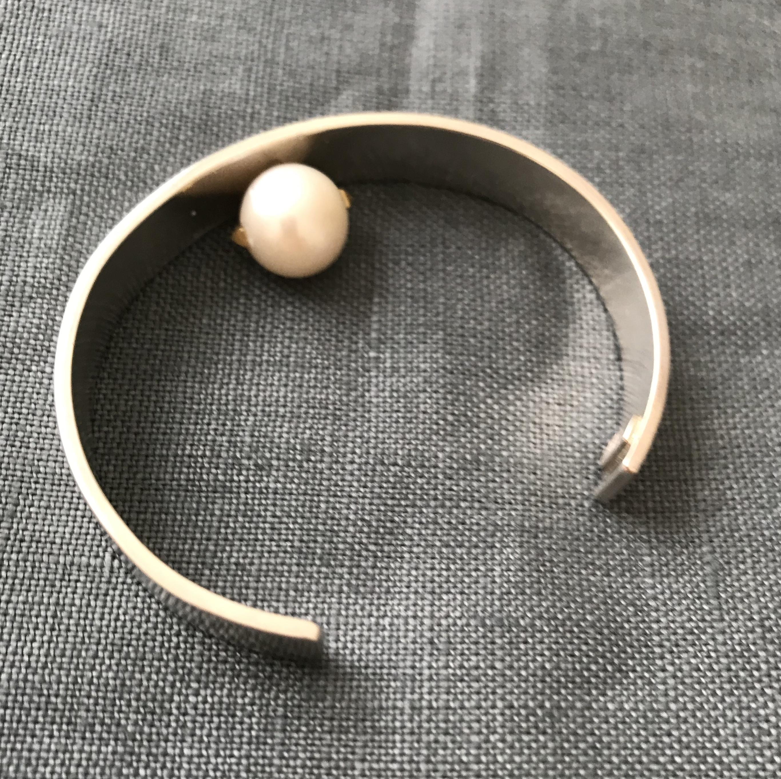pearl bracelet 1   PeB-1   silver