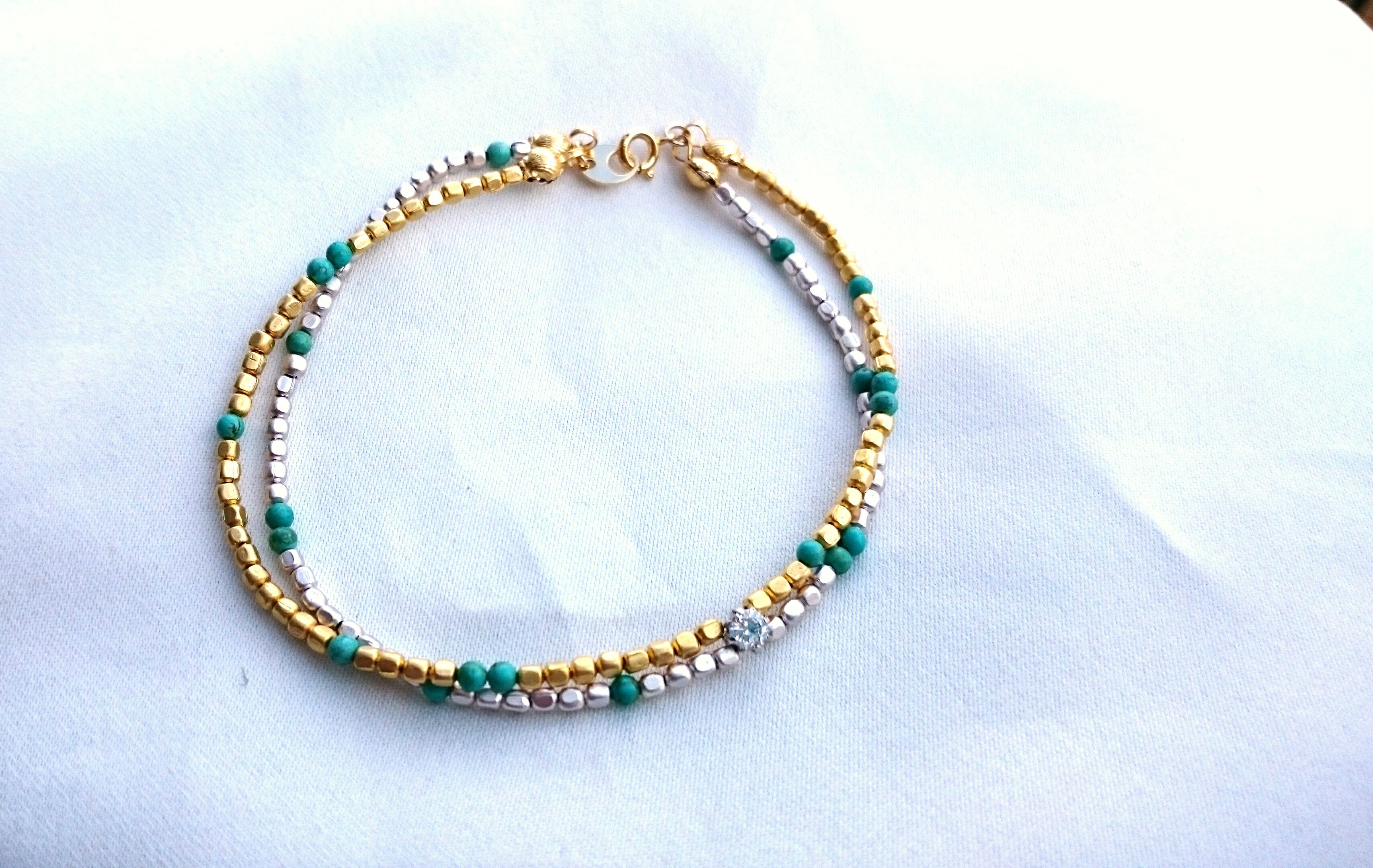 【再販】two line anklet