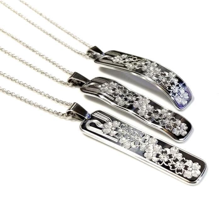【桜彫刻ネックレス】 選べる3デザイン / プレゼントにもおしゃれ