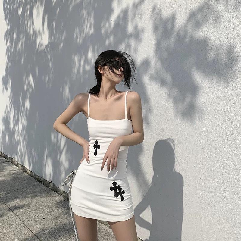 cross camisole dress