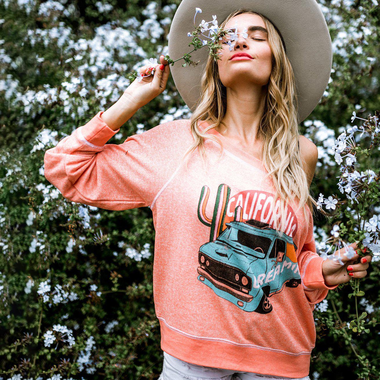 Cali Dreamin Heather Sweater
