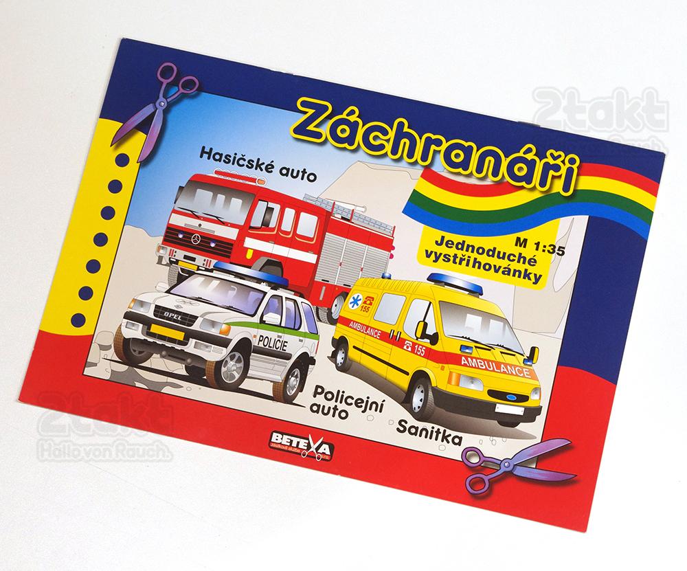 ペーパークラフト レスキュー車両 BETEXA  Záchranáři
