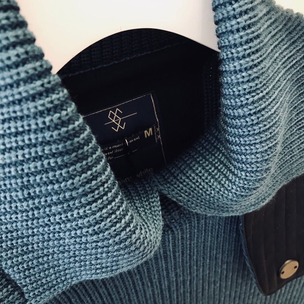 meanswhile Open Collar Turtleneck Sweater