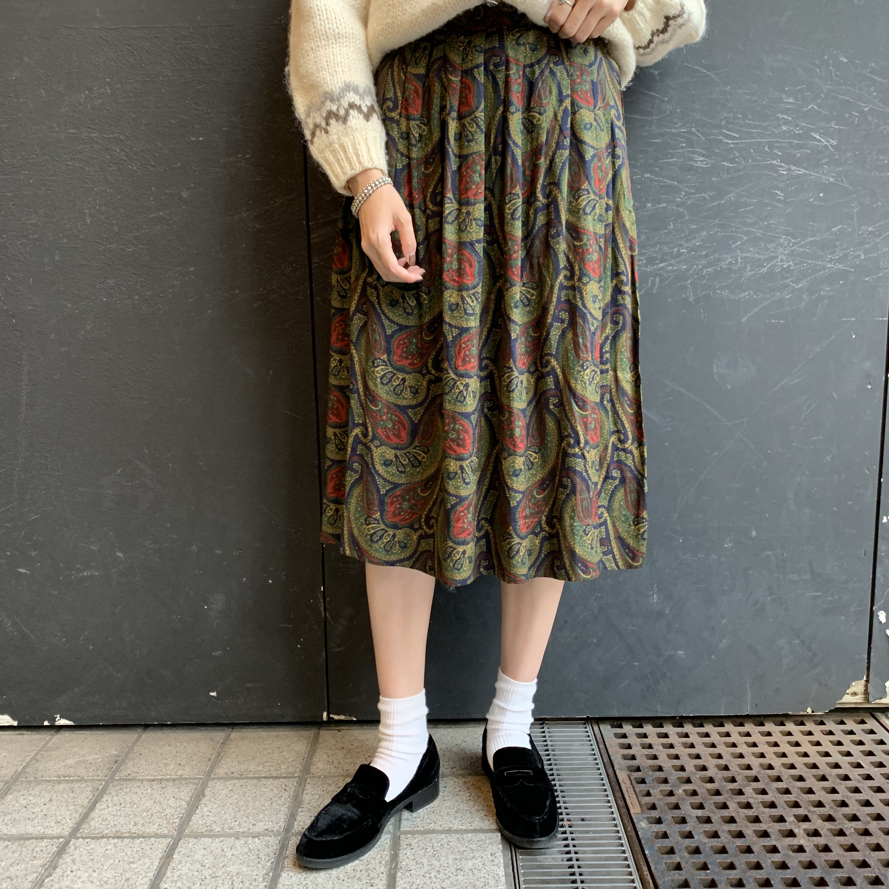 paisley pattern skirt