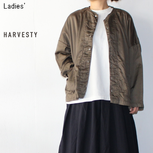 HARVESTY アトリエシャツ Atelier Shirt A41601 (OLIVE) 【Ladies'】