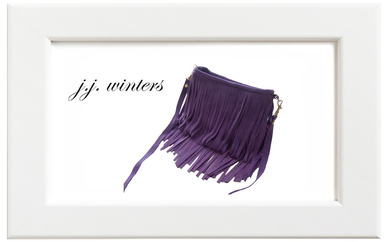 JJ winters/ジェイジェイ・ウィンターズ フリンジミニバッグ/パープルスウェード
