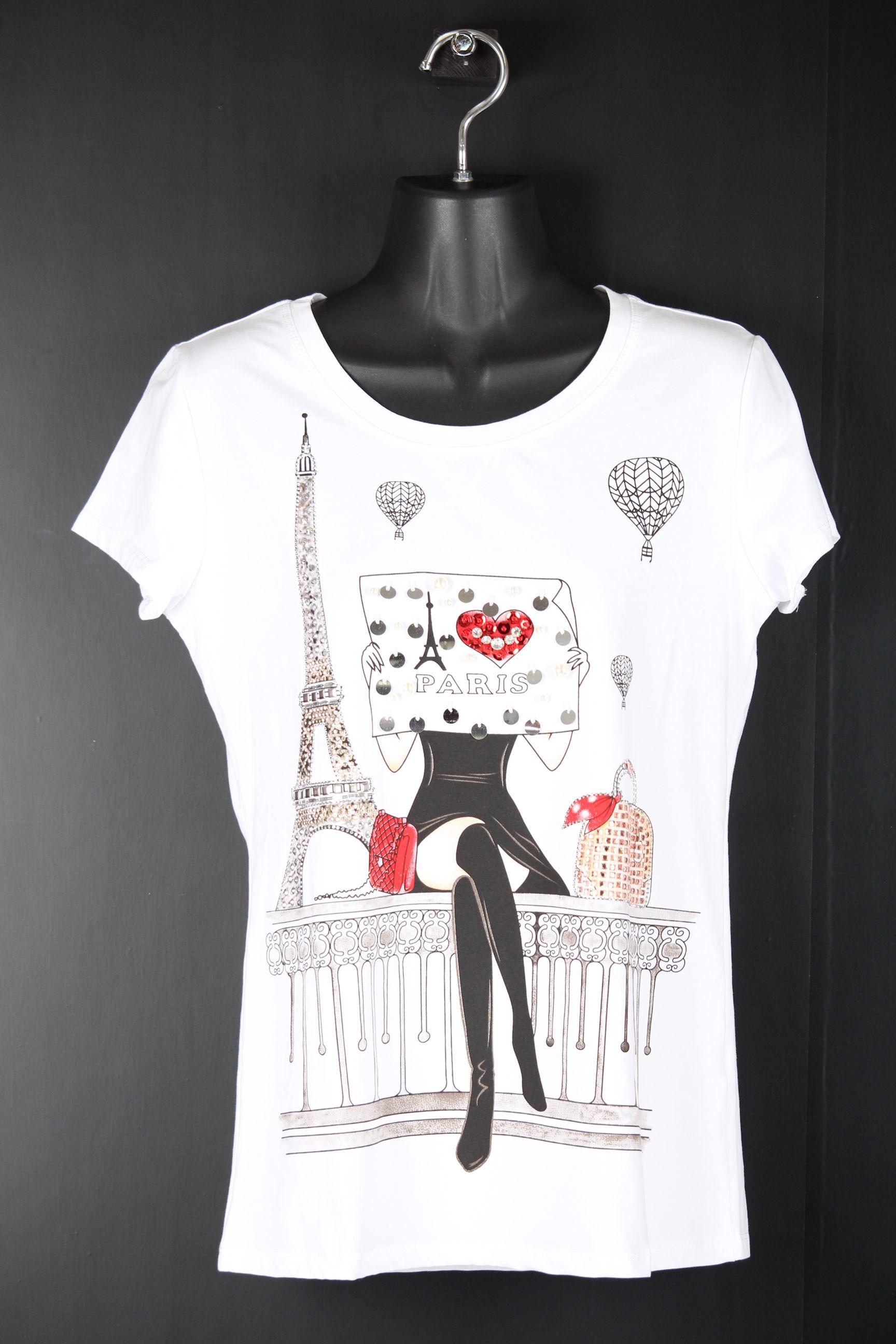 パリの街角Tシャツ【白】