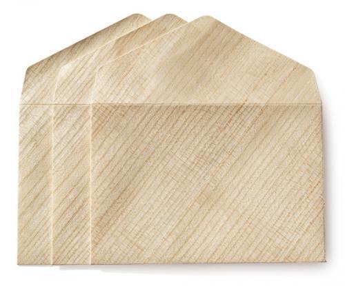 カドをとった洋封筒ダイヤ貼り・洋3(JIS洋1)・桐紙 (3枚組)