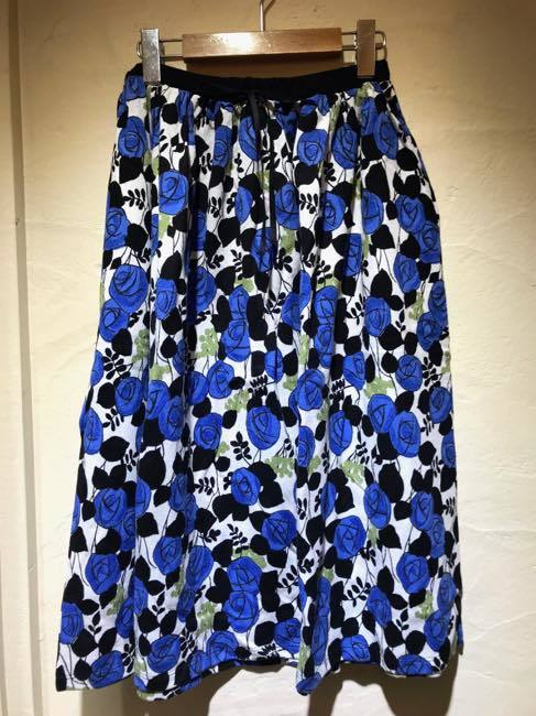 【送料無料!!】Marble Sud マーブルシュッド   ダマスクローズ  スカート   ブルー