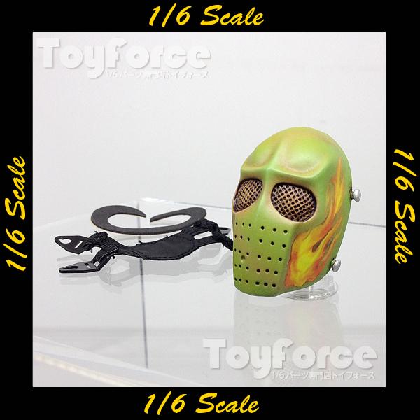 【02715】 1/6 Loading Toys ホッケーマスク 炎模様