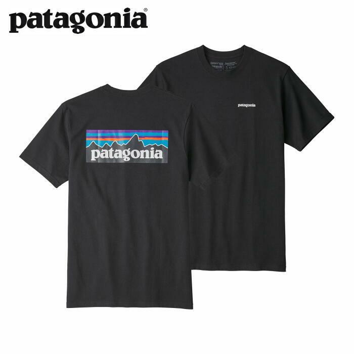 パタゴニア PATAGONIA Tシャツ 半袖 メンズ P-6ロゴ レスポンシビリティー 38504 Black 【正規取扱店】