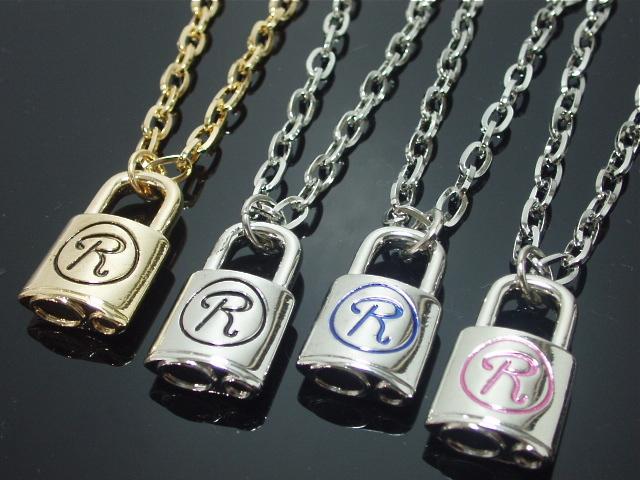 004定番メンズネックレス・ロックR・南京錠