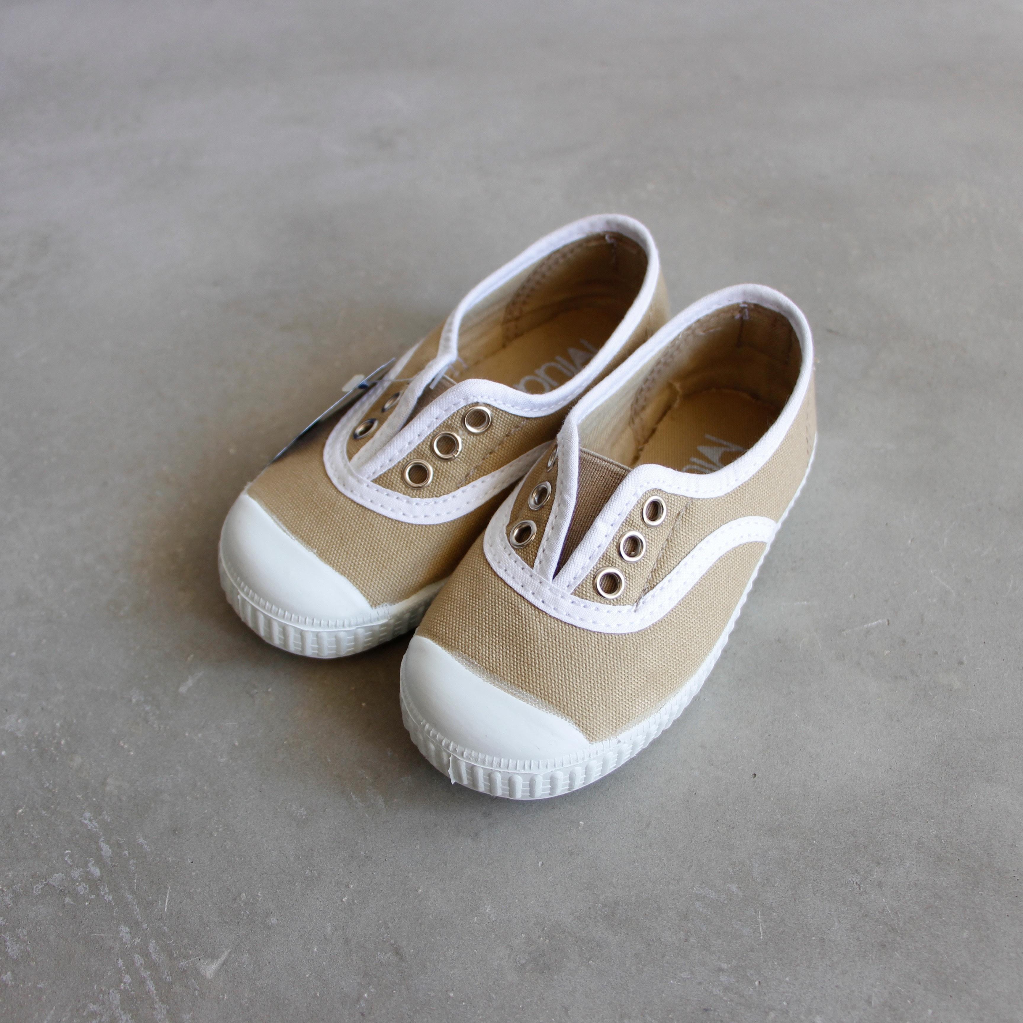 《LA CADENA》INGLES ELASTICO P / beige(white trim) / 23-27(14-17cm)