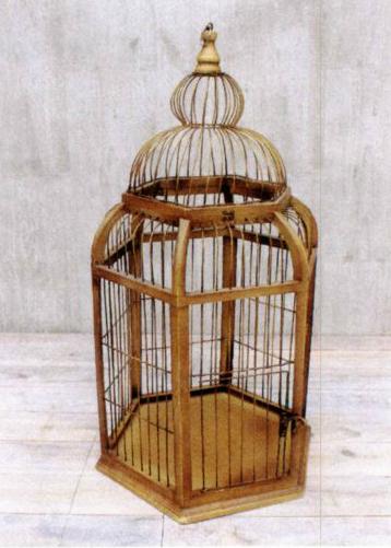 WOOD BIRD CAGE(L)