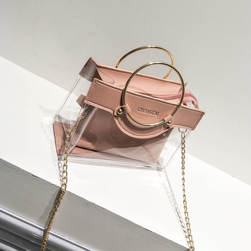 【goods】ファッション透明切り替えバッグ21825372