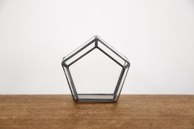五角形 ガラス テラリウム 【送料無料】