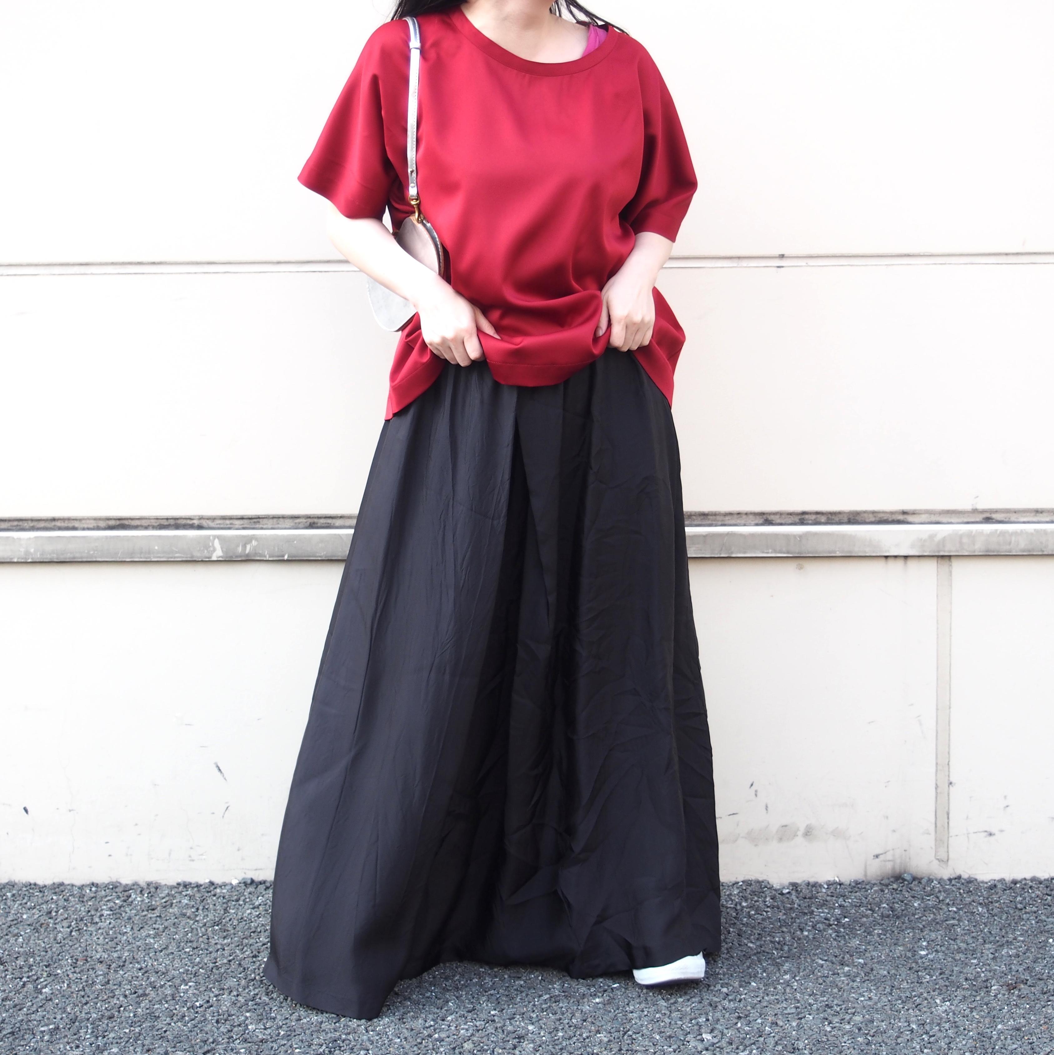 【hippiness】cupro shirring skirt(plain)/ 【ヒッピネス】キュプラ シャーリング スカート(プレーン)