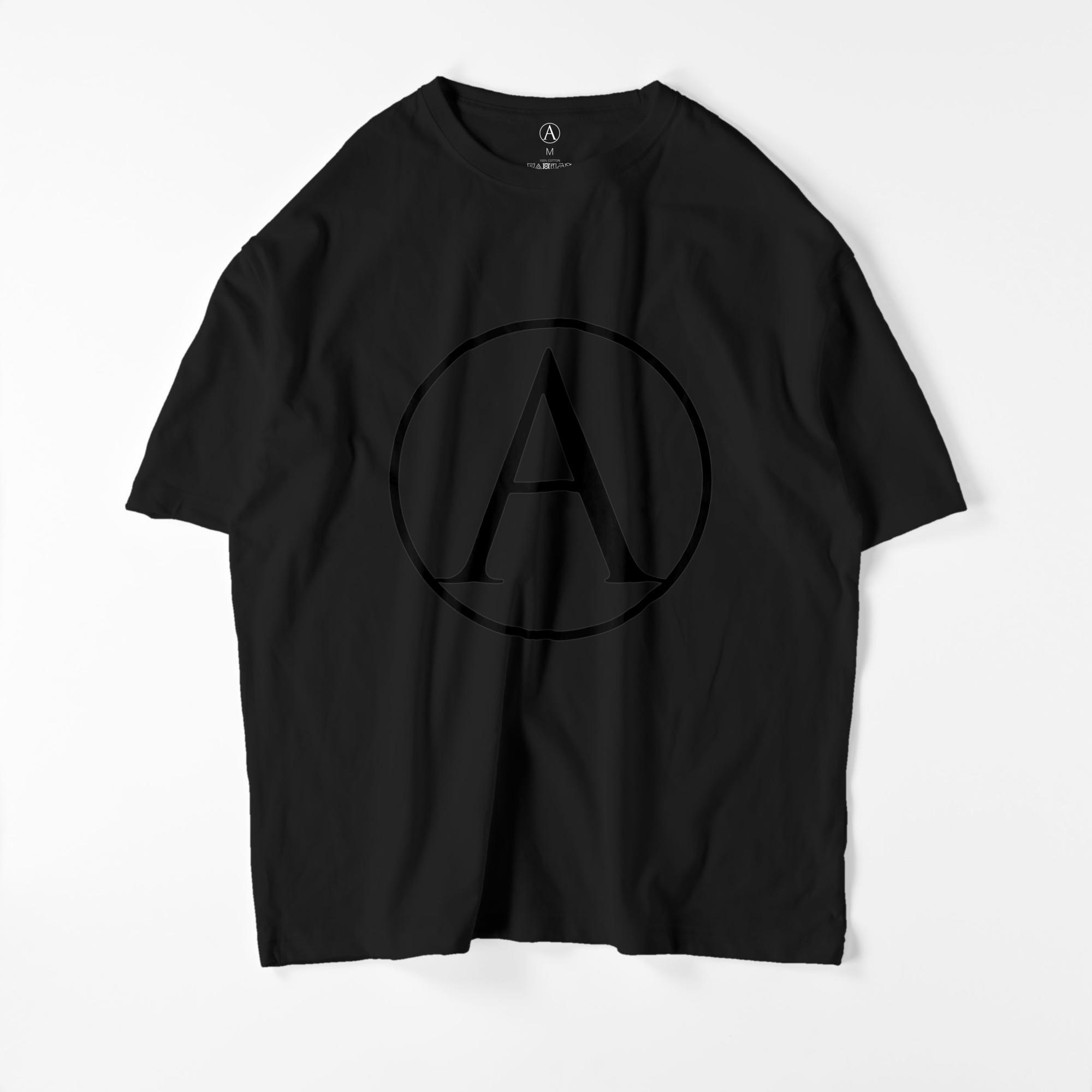 A ビッグシルエットTシャツ ブラック / Mens