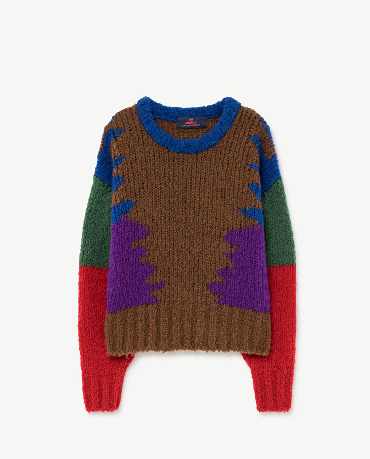 the animals observatory BLOWFISH KIDS+ SWEATER(brown)