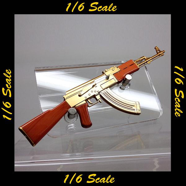 【01569】 1/6 ゴールド 金 AK47 ライフル ギャング