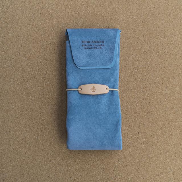 Teha'amana テハマナ Pig suede shopping bag ブルー
