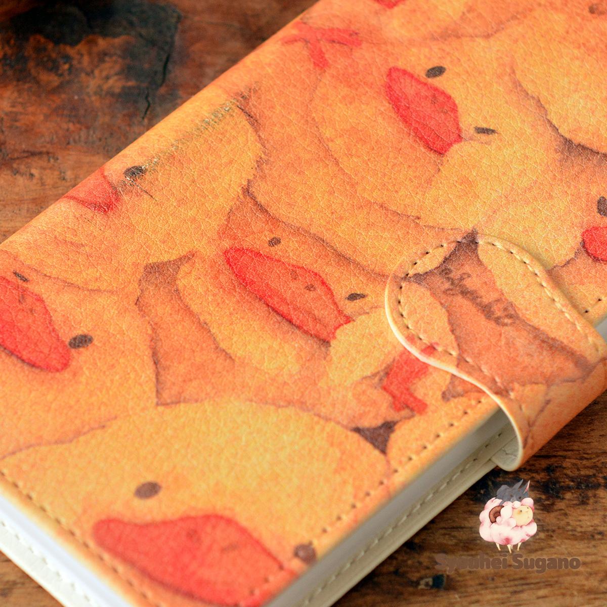 【訳あり】iphone x ケース 手帳型 かわいい アイフォンテン ケース かわいい iphoneテン ケース かわいい おしくらひよこ/Syouhei Sugano【ss-iphxt-08057-B1】