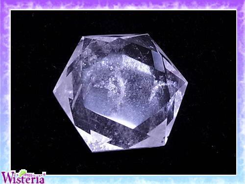 水晶 六芒星(hexagram) 直径55mm×厚み20mm