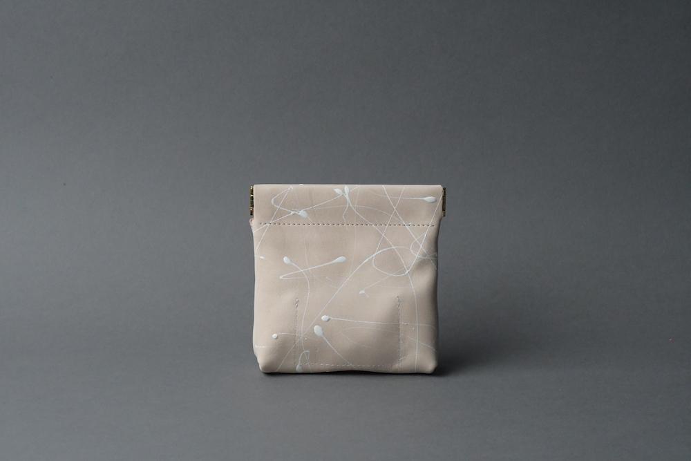 ワンタッチ・コインケース ■drip type 白 ナチュラル■ - 画像2