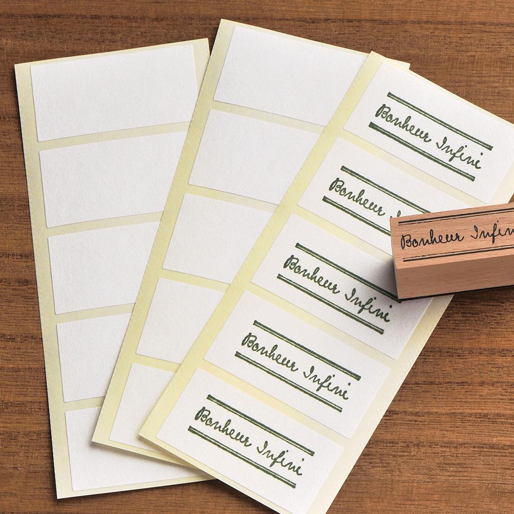 無地シール 長方形 和紙/クラフト 50×25mm 日本製 50片