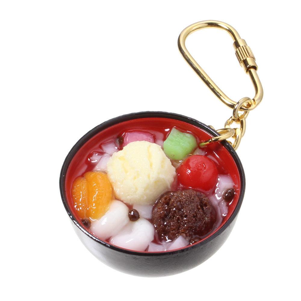 [0223]食品サンプル屋さんのキーホルダー(あんみつ)【メール便不可】