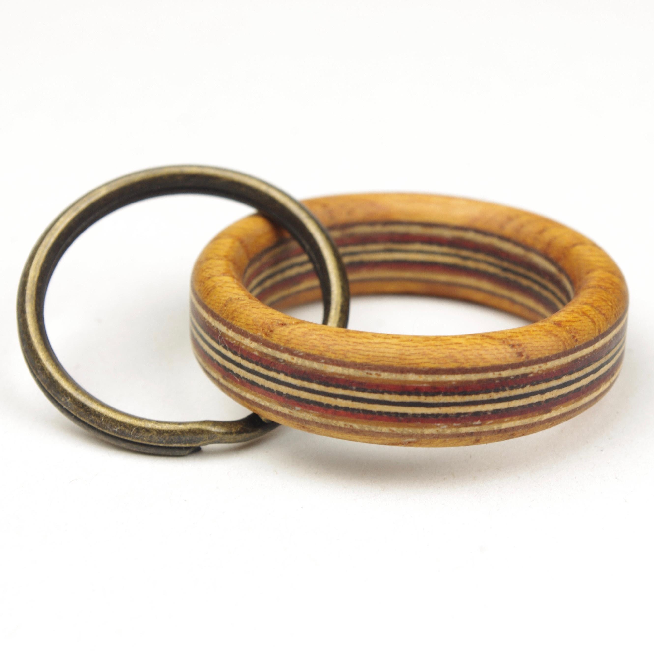 horisontal stripe wooden ring WR-KK