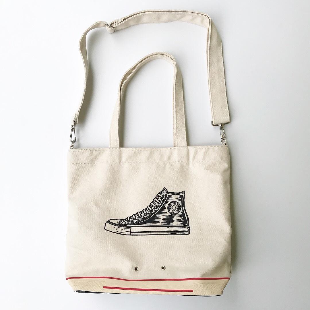 Sneaker 2way tote bag