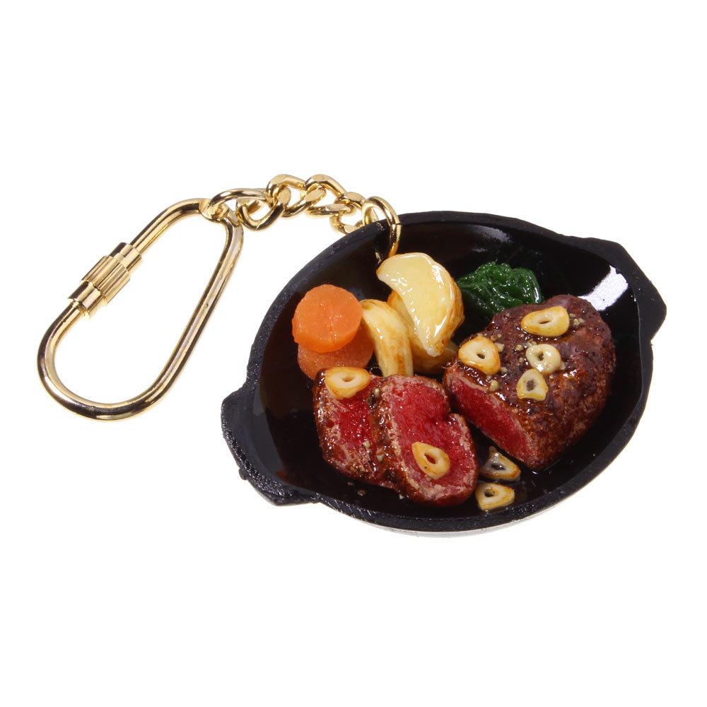[0316]食品サンプル屋さんのキーホルダー(ガーリックヒレステーキ)