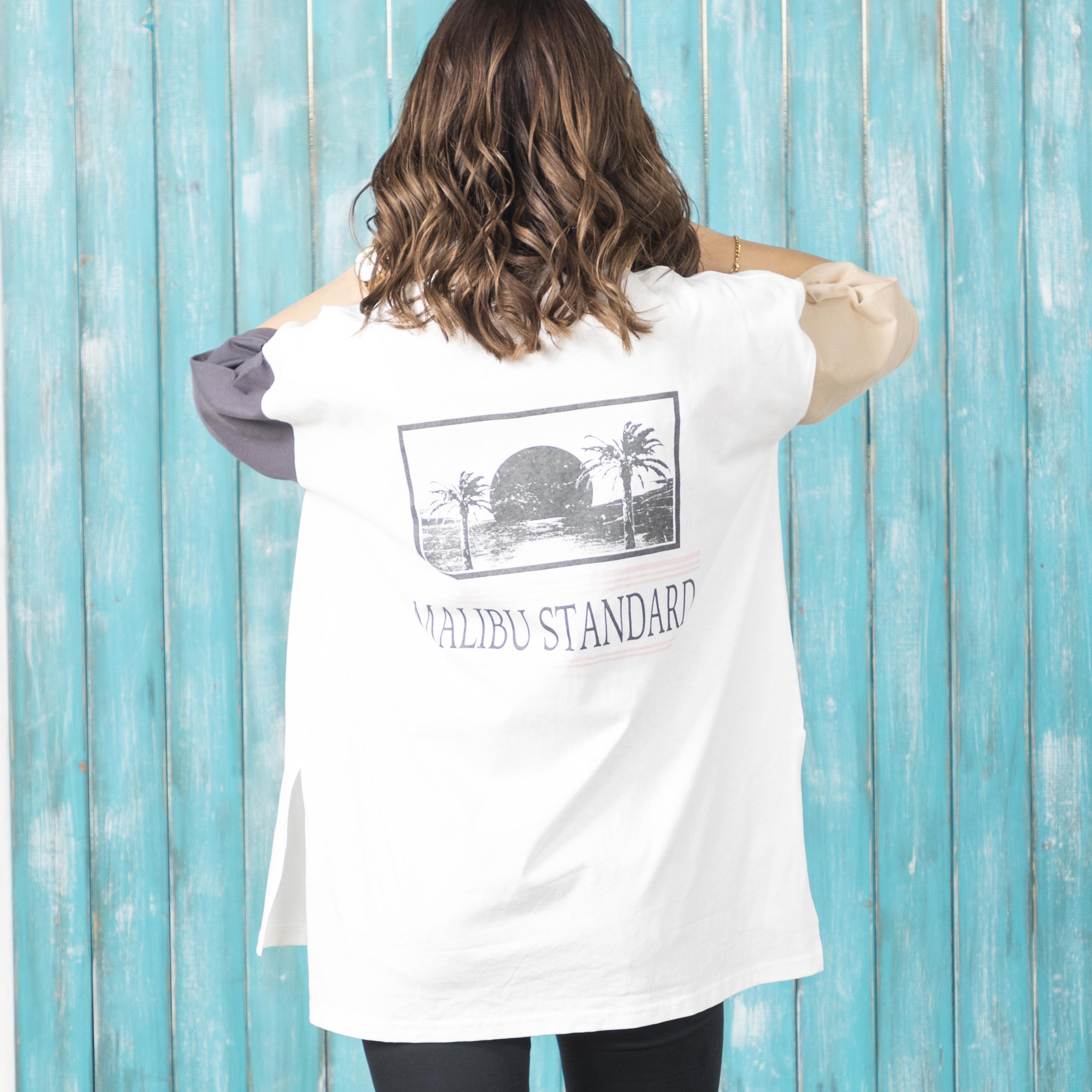 オーバーシルエットバックプリントTシャツ NO0528501