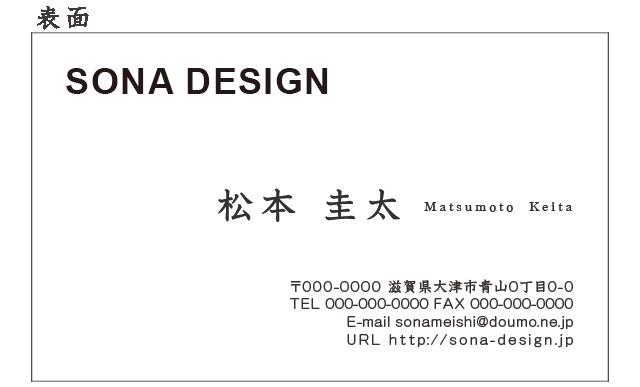 ビジネス片面名刺・シンプル 010 100枚