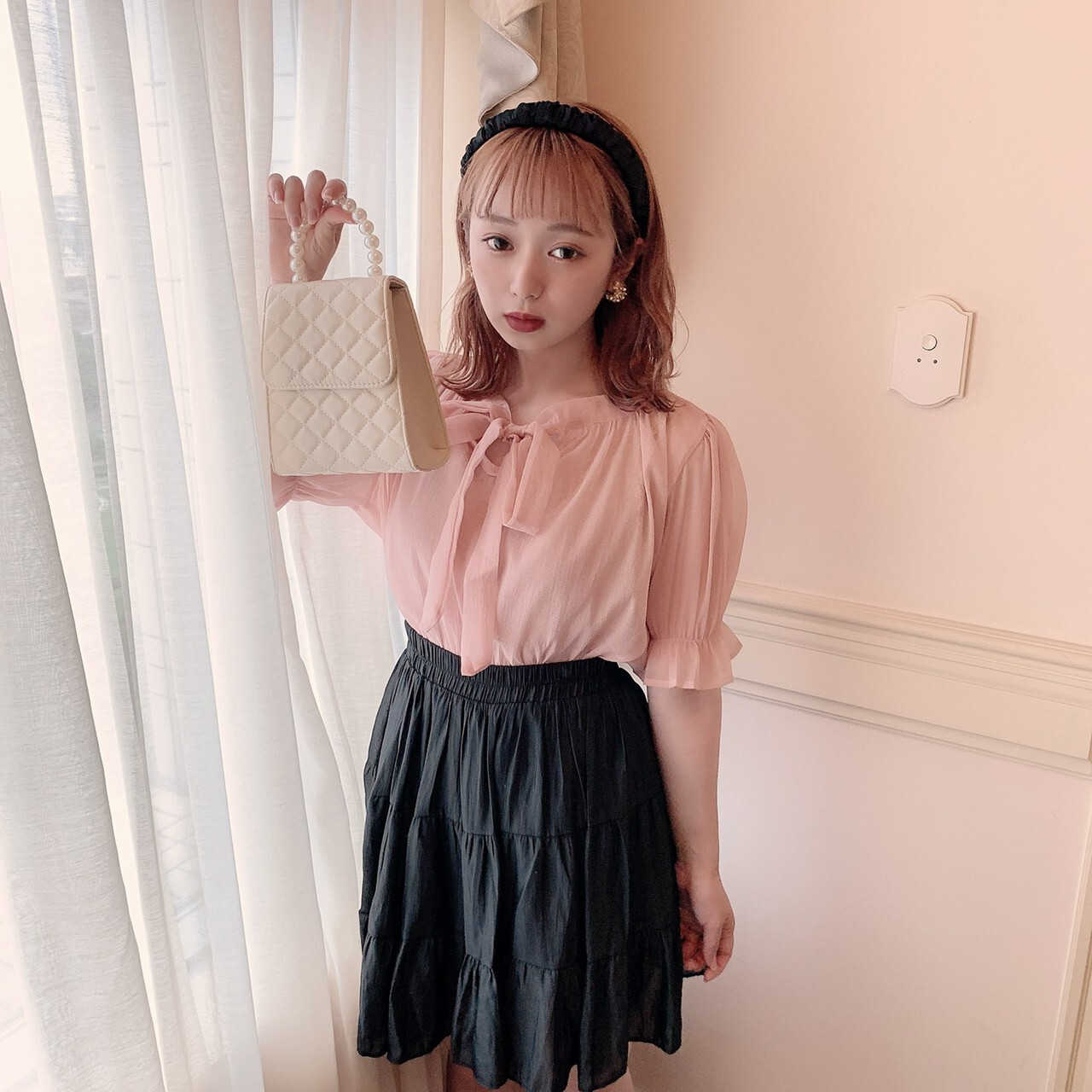 【meltie】cotton candy sheer blouse