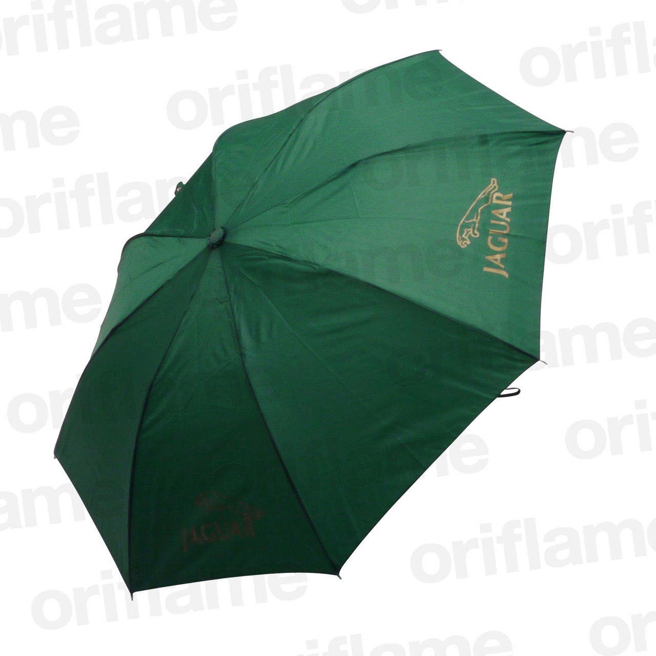 傘・折りたたみ・ジャガー・プラスチックグリップ・グリーン