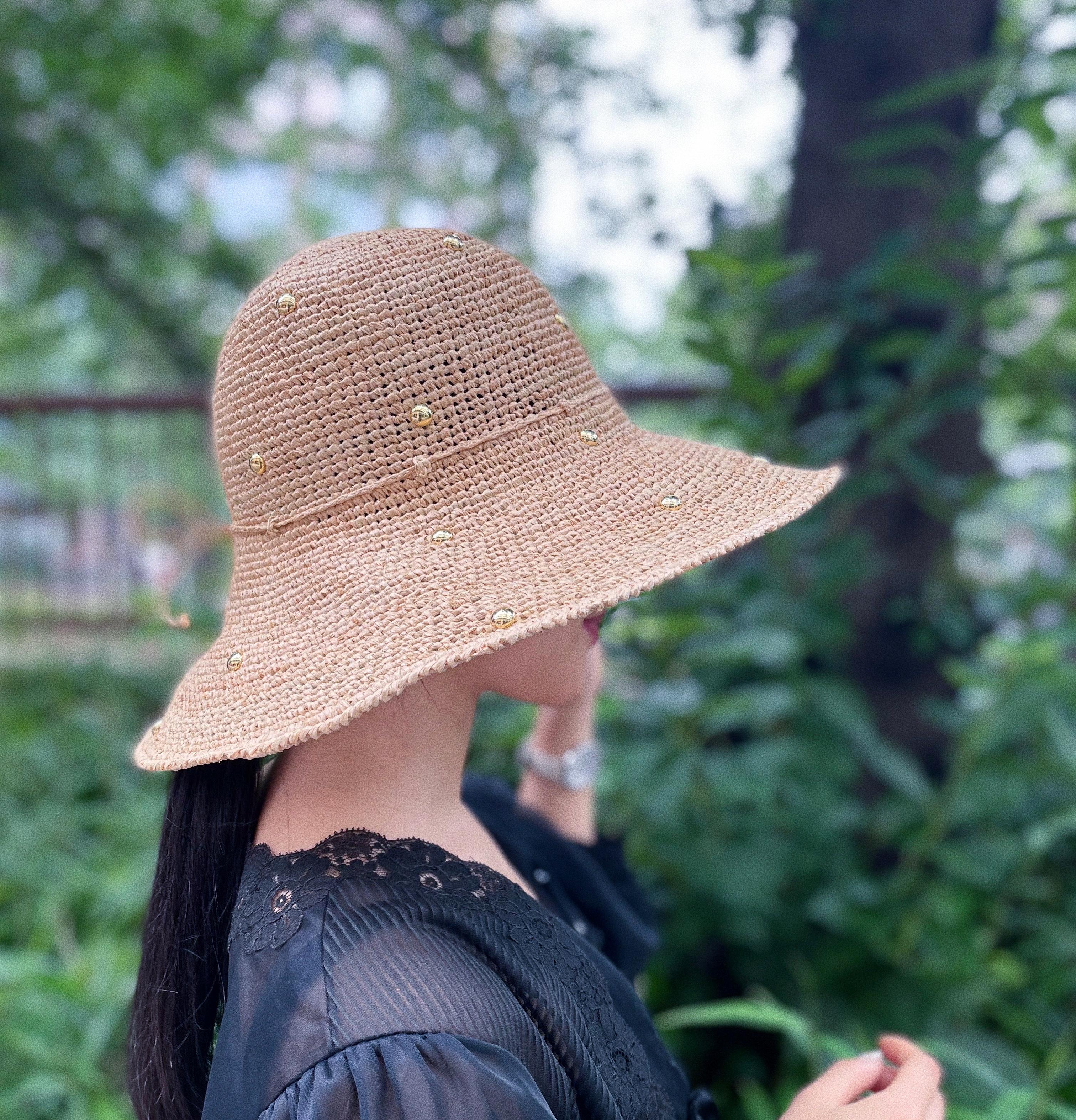 CaNARi remake studs straw hat
