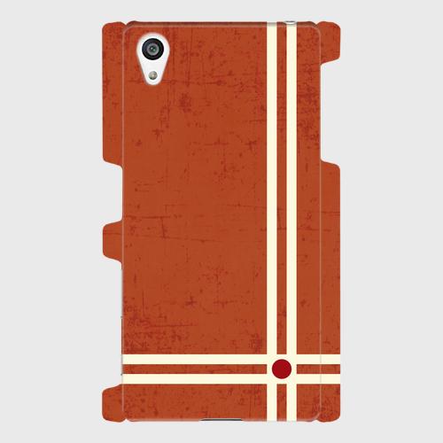 レトロストライプ(赤) / Androidスマホケース(ハードケース)