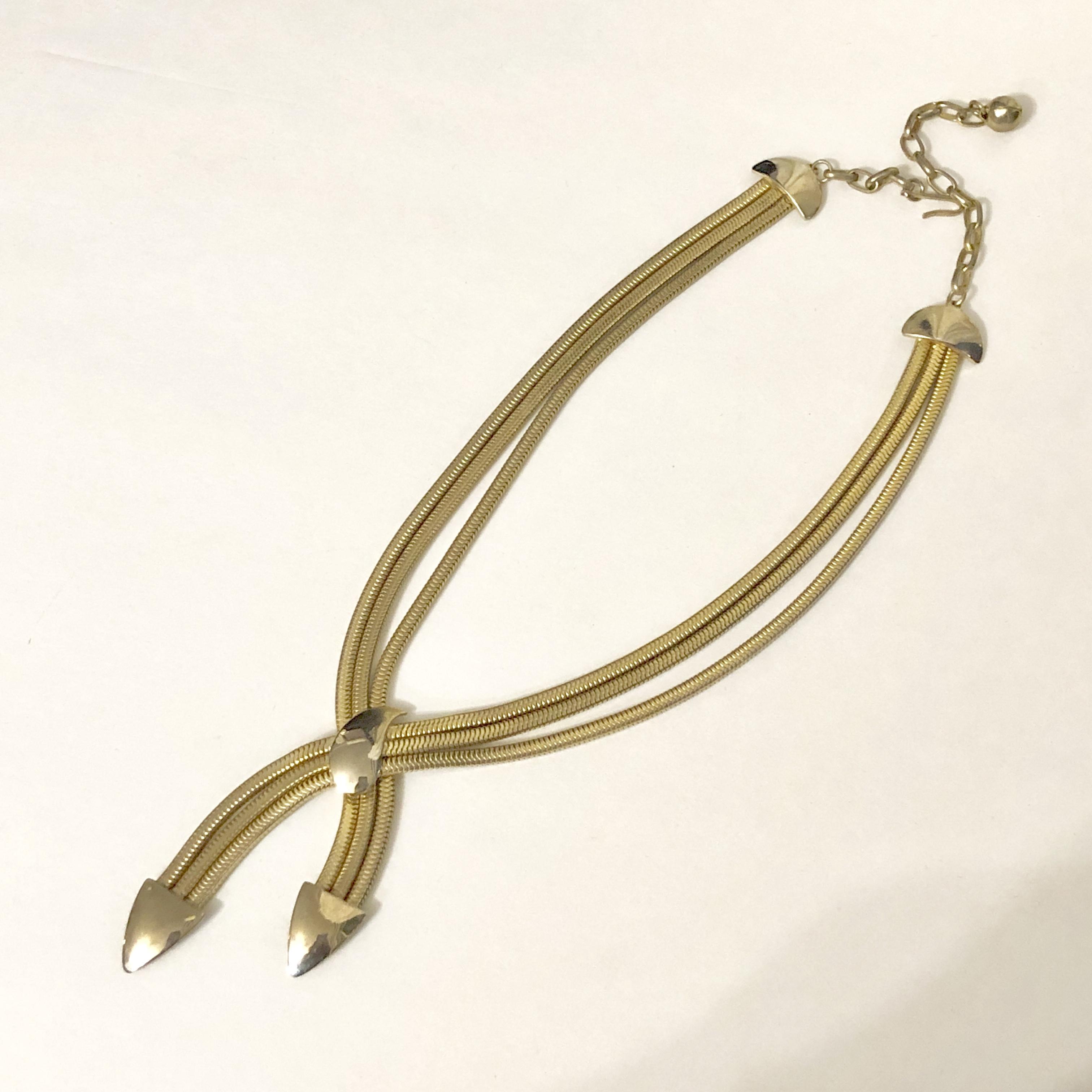 Vintage triple fringe necklace NC-017 *