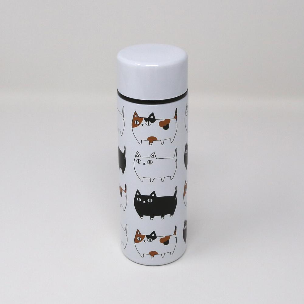 猫ボトル(ステンレスプチボトル猫三兄弟)渋滞中