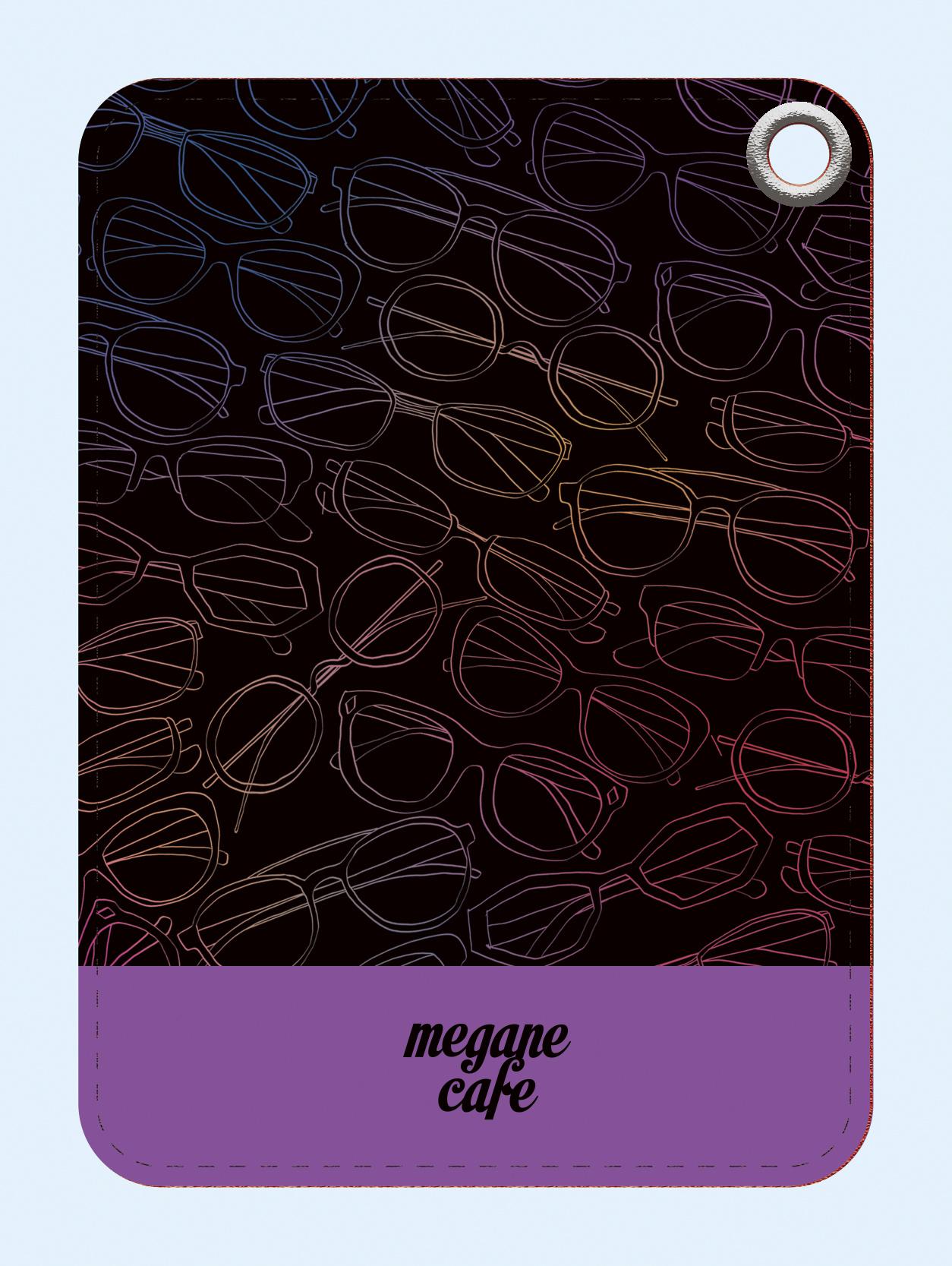 メガネcafeのパスケース。