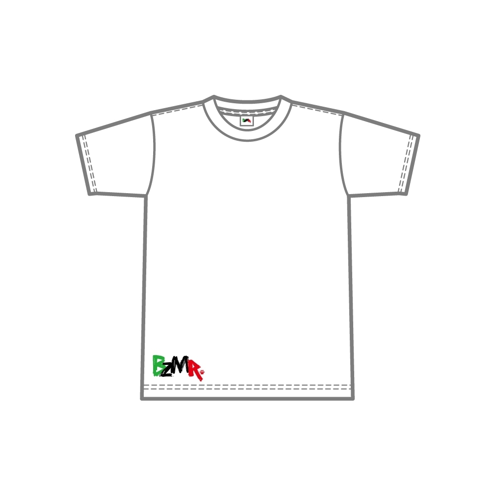 BZMR [Bottom print color tee] White. - 画像1