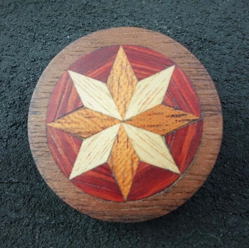 wooden inlaid charm IB-018-WT