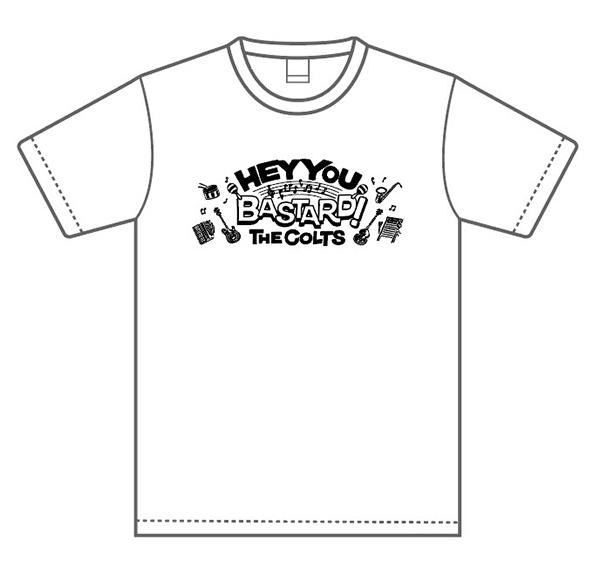 ★THE COLTS「HEY YOU BASTARD!」絵柄Tシャツ・ホワイト RVCG-005