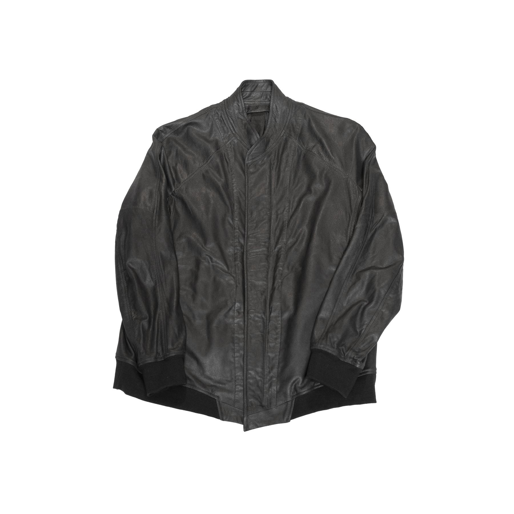 607BLM1-BLACK / シームドボンバージャケット
